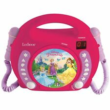 DISNEY PRINCESS CD PLAYER WITH MICROPHONES & HANDLE KIDS GIRLS