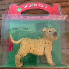 New Kikkerland Collectible Shar Pei 3 Dimensional Dog Puzzle 23 Pieces