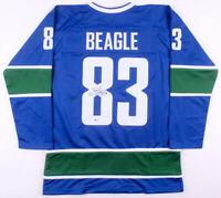 L@@K Jay Beagle Signed Vancouver Canucks Hockey Jersey (Beckett COA) Autographed
