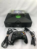 Microsoft Xbox Original Console - 1 Controller - 2 Games - Spiderman - Wrestling