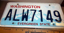Washington the Evergreen state Metal License Plate ALW7149, expired 2012