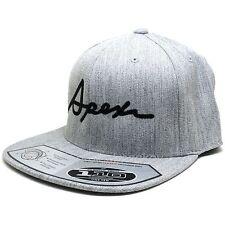 APEXi 601-H5SB Cursive APEXi Logo Flat Bill Hat Cap Marl Grey / Black Genuine