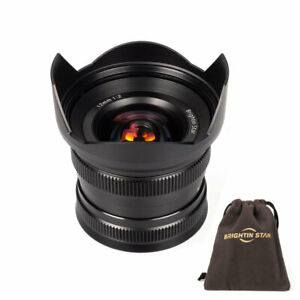Brightin Star 12mm f/2 Ultra-Wide Angle Focus Prime Lens for Fuji X-Mount Camera