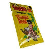 1979 Walt Disney Jungle Cloth Book Vintage Mowgli Winifred Fabric Toy Kid Sealed