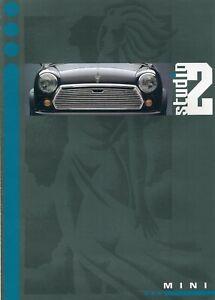 ROVER MINI STUDIO 2 SPECIAL EDITION - UK 1990/1991 sales brochure