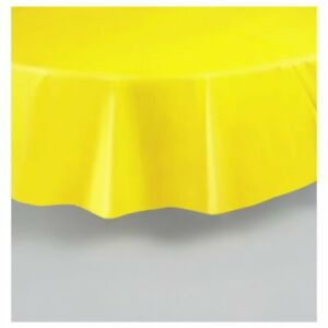 """Disposable Plastic Tablecloths 84"""" Round Pack of 4 (Package May Vary)"""