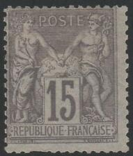 """FRANCE STAMP TIMBRE N° 77 """" SAGE 15c GRIS TYPE II """" NEUF x A VOIR"""