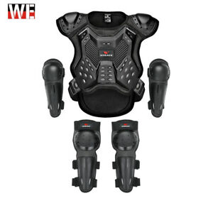 Kids/Youth Full Body Protector Gear Spine Armor Vest Elbow Knee Pads Guard Sport