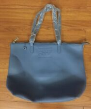 New Rodan + Fields Blue Leather Travel Tote Bag with Make-Up Bag Pouch