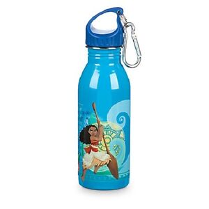 Disney Store USA Moana Stainless Steel Water Bottle Small Blue BRAND NEW