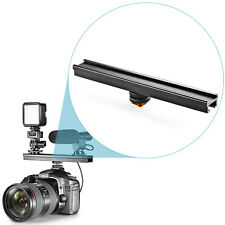 """Neewer Aluminium Alloy 8"""" Flash Brackets Extension bar with Cold Shoe for DSLR"""