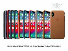 iPhone XS Apple Genuine Original Leather Case Cover / 10 Official Colors