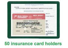 50 Insurance holder registration card document auto organizer Green