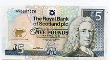 Jack Nicklaus 2005 Uncirculated Royal Bank of Scotland £ 5 Billete