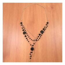 """14"""" Drop Long Necklace Chain Beaded Gold Black Party Wedding Boho Gift Dangle268"""