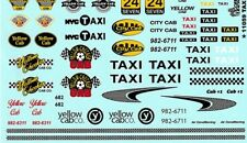 TAXI CAB LOGOS SCREENPRINTED 1/25th - 1/24th Scale  WATERSLIDE DECAL 11059 GOFER