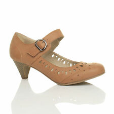 Unbranded Synthetic Leather Mary Janes Cuban Heels for Women