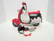 Monster High Ghoulia Yelp Motorcycle Scooter Set Helmet Glasses s