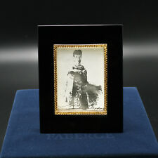 Faberge Russian Jade Picture Frame 24k Gold Plated Sterling Silver