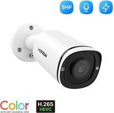 Cámara exterior IP Cámara 3MP en un tiempo real 30FPS, lente de 4mm, cámara de audio, H.265