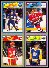 1988 O-PEE-CHEE OPC Luc Robitaille Andreychuk NM BOX BOTTOM 4 CARD UNCUT PANEL