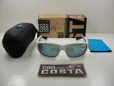 1b46aa8a8ab Costa Del Mar Tuna Alley Sunglasses White Frame Blue Mirror 580g TA25OBMGLP