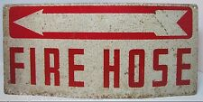 Old FIRE HOSE w Arrow Sign Ready Made Sign Co New York industrial safety advert