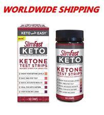 Slim Fast Keto Ketone Test Strips 100 Ct Box WORLDWIDE SHIPPING