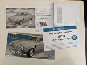 Danbury Mint 1/18 1951 Studebaker Complete Mailing Brochure New Release ACME