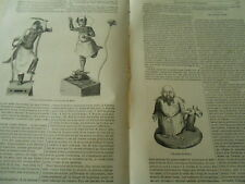 Le Kamtschatka Idoles Génie du Mal 1845 Gravure Print Article