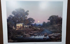 Larry Dyke Zechariah 14:7, Covered Wagon, Cowboys Cooking, Campfire Moonlit