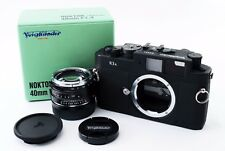 【Exc++++】Voigtlander Bessa R3A Black body Nokton 40mm f1.4 MC Lens SET 214598