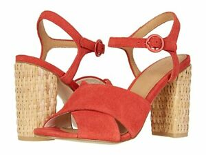 Soludos Women's Olivia Block Heel Suede Sandals *Cherry Size: 7 - 10