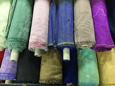 PURE 100% SILK FABRIC DUPION Handloom FREE DELIVERY 55Colours Half Meter+1 Meter
