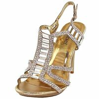 New women's shoes rhinestones stilettos buckle closure party prom wedding Gold