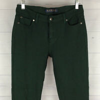 TINSEL Womens Size 27 in. STRETCH Solid Green Mid Rise Soft Cropped Pants