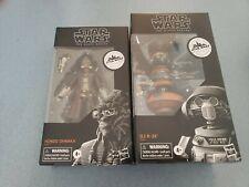 Lot of 2 Star Wars Black Series Galaxy's Edge HONDO OHNAKA & DJ R-3X