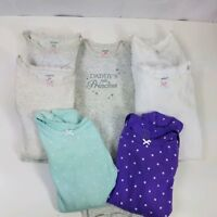 Carters Toddler Bodysuits (7) Assorted Colors Long Sleeve One Piece Girls Sz 24M