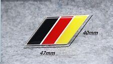 Germany flag Aluminium Metal Badge Decal Emblem Sticker For DE Luxury Car