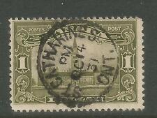 Canada 1928-29 Parliament Bldg $1 olive green def--Attractive Topical (159) used