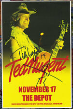 Ted Nugent autographed live show poster 2014 Doodle