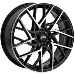 """Pacer 793MB Sequence 18x7.5 5x100/5x4.5"""" +42mm Black/Machined Wheel Rim 18"""" Inch"""