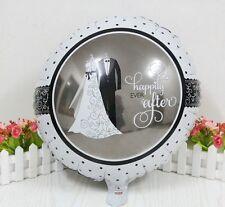 """Bride & Groom Wedding Balloon 18"""" Round Foil Decoration Engagement Anniversary"""