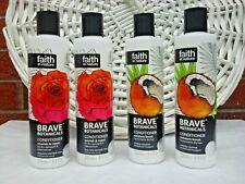 4x Faith in Nature Brave Botanicals Conditioner 2x Rose & Neroli & 2x Coconut