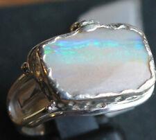 Dark Opal 4.2 Karat 950er Silberring Größe 18,4 mm
