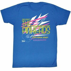 Adult Heather Blue Back to the Future The Pinheads Too Darn Loud T-Shirt Tee