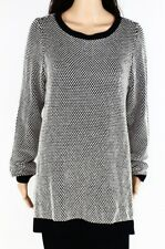 Charter Club Womens Sweater Black Size 2X Plus Pullover Contrast  $69 010