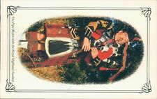 The pipe major with the royal highland fusiliers  postcard