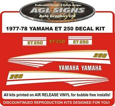 1977 1978 YAMAHA ENTICER  ET 250  Reproduction Decal kit  ET250