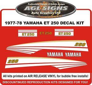 1977 1978 YAMAHA ENTICER  ET 250  Reproduction Decal kit  ET250